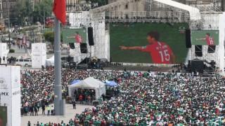 Más de 90 mil asistentes disfrutaron del triunfo de México vs Corea del Sur en el Zócalo capitalino