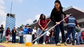 """Participa Jefa de Gobierno en la sexta jornada consecutiva de Tequio en la Pista Olímpica """"Virgilio Uribe"""" de Xochimilco"""