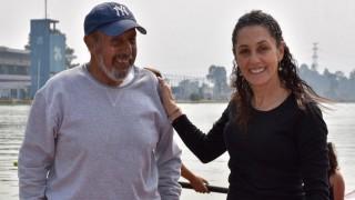 Se reencuentra Jefa de Gobierno con su ex entrenador de remo